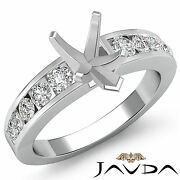 Diamond Engagement Pear Semi Mount Womenand039s Ring Channel Setting Platinum 0.7ct