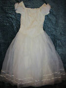 1900 Victorian Edwardian Dickens Dress Gown Costume Wedding Size 10-12