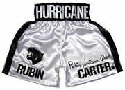 Rubin Hurricane Carter Autographed Signed White Boxing Trunks Asi Proof