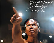Bolo Yeung Chong Li Autographed You Are Next Bloodsport 16x20 Photo Asi Proof