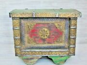 Recycled/rustic/reclaimed Wood Trunk/chest With Embossed Brass Real Nice