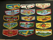 Order Of The Arrow Used Flap Collection 43 Flaps  Cjp Oax1
