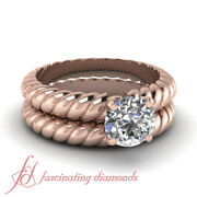 Solitaire Engagement Rings And Bands For Women With 1/2 Ct Round Cut Diamond Gia