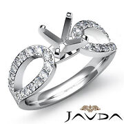 Diamond Engagement Ring Solitaire Style Round Semi Mount 18k White Gold 0.45ct