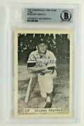 Mickey Mantle Autograph 1975 Tcma 6 Yankees All-time Team Signed Card Beckett
