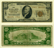 Fairmont Wv 10 1929 T-2 National Bank Note Ch 13811 First Nb Vg/f
