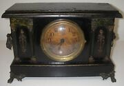 Antique Sessions Mantel Clock No 639 Hr And 1/2 Hr Strike Cathedral Gong Original