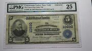 5 1902 Conewango Valley New York Ny National Currency Bank Note Bill 10930 Vf