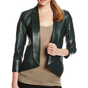 Rebecca Minkoff Womenand039s Open-front Ace Leather Jacket