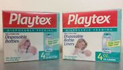 2 50pk Playtex Vintage Baby Bottle Drop-ins Flat Disposable Liners 4oz