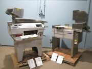 Lot Of 2 Mettler Toledo Commercial Labeling And Wrapping Machines W/smart Ctrl
