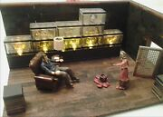 Walking Dead Governorandrsquos Office Lighted Zombie Head Collection + Daughter Govern