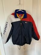 Vintage 90andrsquos Jacket W/ Hideaway Hood Youth Size Large
