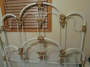Antique Cast Iron Bed / Double Bed Frame / Vintage Full Iron Bed