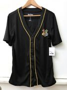 Women's Harry Potter 07 Quidditch Team Black Mesh Jersey Top Size S Small Nwt