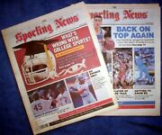 Kansas City Royals 1987 And 1989 Bo Jackson Cover Features Sporting News