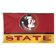 Florida State Seminoles College Vault 3and039x5and039 Deluxe Flag Brand New Wincraft