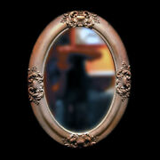 Oval Mirror Made Of Cast Stone And Antique Color Can Be Also Picture Frame