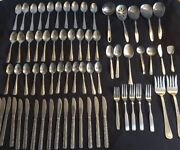 68 Stainless Restaurant Quality Silverware Spoons Knives Serving Pieces China