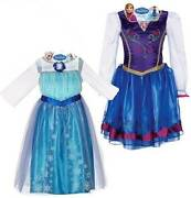 Nwt Disney Movie Frozen Anna And Elsa Dress Up Costumes 4 5 6 6x Lot Of 2 Dresses