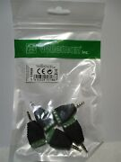 Velleman Cd028 2.5mm Stereo Plug To 4p Screw Terminal Adapter - 5 Pack