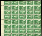United States Scott617/19 Lexington Concord Sheets Of 50 Unfolded Mint Nh