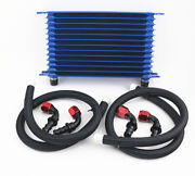 13 Row An10 Universal Auto Engine Transmission Oil Cooler Radiator And Fitting