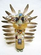 Hopi Old Style 15 Blue Star Ahote Traditional Hunter Kachina Doll By Shawn Deel