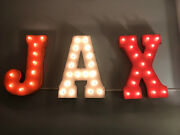Jax Sign Light Up Rustic Vintage Style Metal Marquee Sign Baby Name Custom Room