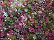 Tourmaline Crystal All Natural Green/red/pink 1/2 Pound Lot Mixed Grade