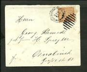 Panama To Germany 1898 Cover Colon Cancel Vf
