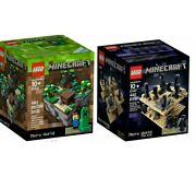 Lego Cuusoo New Sealed 2 Set Lot The End 21102 Rare Minecraft Sold Out