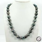 Top Mirror Luster Aaa Genuine Tahitian South Sea Pearl Necklace 14k Gold Tn628
