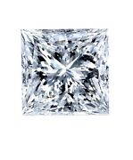 Certificate 0.53ct Princess Excellent Cut Diamond With F Color And Vs2 Clarity
