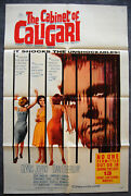 The Cabinet Of Dr. Caligari – Original 1962 Horror Usa Movie Poster – Near Mint