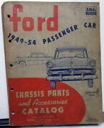 1949-1954 Ford Dealer Chassis Parts And Accessories Catalogue Book Passenger Car