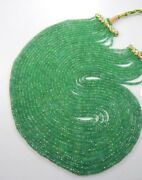 Royal Estate Natural Fine Quality Zambian Emerald Beads Necklace 13 Strand 20and039and039