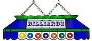 Blue And Green Billiard Balls 40 Stained Glass Pool Table Light - New