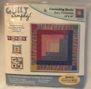 Quilt Simply Connecting Blocks 16x16 Baby Collection Log Cabin 9a