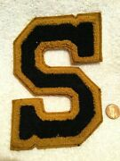 1930s Stewartsville High School In Chenille Letter From Sweater Posey Co. Closed