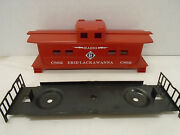Custom Painted American Flyer S Gauge Erie Lack Caboose Body And Chassis