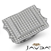 1.81ct. Wide Designer Cluster Hip Hop Style Menand039s Round Pave Diamond Gold Ring