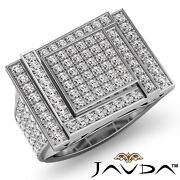 2.12ct. Luxurious Hip Hop Style Menand039s Micro Pave Set Diamond Filigree Gold Ring
