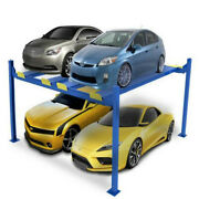 Economic 4 Post Car Parking Lift With Electric Unlock Release