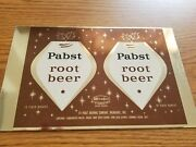 Vtg 1950s Pabst Root Beer Soda 10oz Soda Can Unrolled Sheet Mira Co