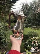 Antique Or Vintage Solid Silver Coffee Pot Teapot Jug London 1974 Muppin And Webb