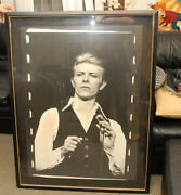 David Bowie Mega Rare Framed Print Appx 36 X 60 Inches Heavy Wooden Frame Look
