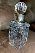 England Crystal Sterling Silver Decanter J A Campbell Scotch Whisky Cognac Glass