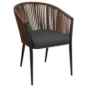 New Outdoor Fiji Club Chair With Espresso Wicker Weave With Cushion