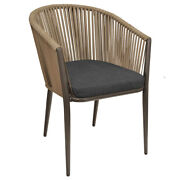 New Outdoor Fiji Club Chair With Gray Wicker Weave With Cushion